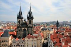 Praga. Viejo cuadrado Fotografía de archivo