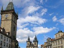 Praga - viejo squaire de la ciudad Fotografía de archivo