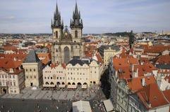 Praga, vista aerea Fotografia Stock