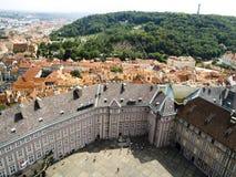 Praga - vista aerea della vecchia città Fotografia Stock Libera da Diritti