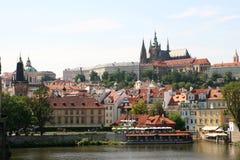 Praga - vista del castello immagine stock libera da diritti