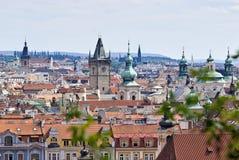Praga, vista geral de Letna imagens de stock