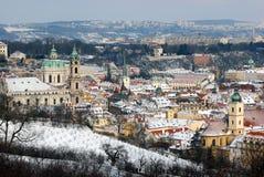 Praga w zima Fotografia Royalty Free
