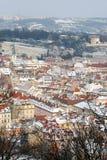 Praga w zima Zdjęcia Royalty Free
