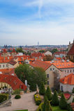 Praga widok od Vrtbovska ogródu Obraz Royalty Free