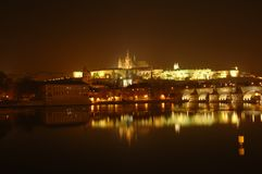 Prage. Night in prague, czech republic royalty free stock photography