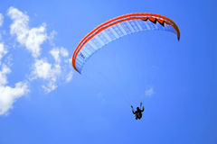 Pragliding in the sun Stock Images