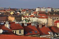 Prags Dachspitzen Stockbild
