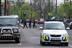 Prags Gasexplosion an am 29. April 2013 Lizenzfreie Stockfotos