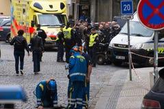 Prags Gasexplosion an am 29. April 2013 Stockfotografie