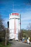 Pragsattel-Hochhausbunker in Stuttgart, Deutschland Lizenzfreies Stockfoto