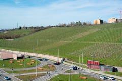 Pragsattel intersection in Stuttgart, Germany Stock Images