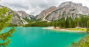 Pragser Wildsee (Lago Di Braies) Zdjęcia Royalty Free