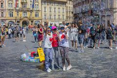 PRAGUA, CZECH REPUBLIC 30.06.2018 Old Town Square. One Of The Main Attractions Of Prague. Stock Image