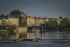 Prague är en av den mest härliga staden för historia, kultur och skönhet arkivfoton