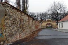 Prague är en stad, och huvudstaden av Tjeckien är en traditionell europeisk kulturell mitt GataKampa för Na Kampe ö, Mal arkivfoto