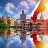 Prague är huvudstaden av Tjeckien Royaltyfri Bild