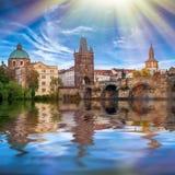 Prague är huvudstaden av Tjeckien Royaltyfri Foto
