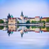 Prague är huvudstaden av Tjeckien Royaltyfri Fotografi