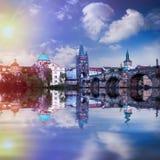 Prague är huvudstaden av Tjeckien Royaltyfria Foton