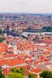 Prague. Övre sikt Royaltyfri Bild