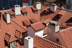 prague настилает крышу s Стоковое фото RF