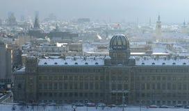 prague снежный стоковые изображения
