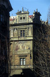 Prague 1. Painting building located in Prague city, Czech Republic Royalty Free Stock Image