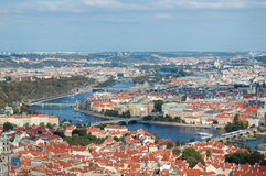 Prague. Panoramic view on the city of Prague, Czech Republic Stock Images