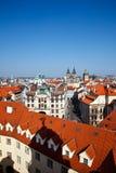 Prague. Red roofs of Old Town, Prague, Czech Republic Stock Photos