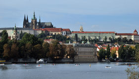 Prague. Castle and Vltava River, Czech Republic royalty free stock image