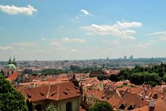 Prague. Aerial view of prague from the castle Royalty Free Stock Images