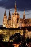 Prague. Photo Prague Castle at night royalty free stock photo