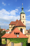 Prague. Church of Our Lady Victorious in Mala Strana (Lesser Quarter). Part of UNESCO World Heritage Site Stock Images