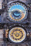 Prague. Old astronomical horoscope clock Royalty Free Stock Photo