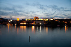Prague. View over the river of the famous city of Prague Royalty Free Stock Image