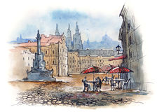 Prague. City painting (series C