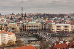 Prague. View from the top of the city of Prague Royalty Free Stock Photo