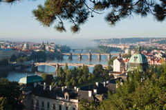 Prague. View of Prague. Vltava river stock image
