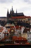 Prague 4. A view of Prague castle in Czech Republic Stock Photos