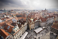 Prague. View of Prague roof tops Royalty Free Stock Photography