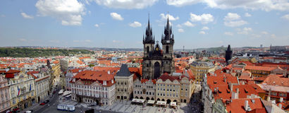 Prague. Picture of Prague taken from the Bell Tower Royalty Free Stock Photography