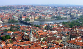 Prague from above. View of the old city in Prague, Czech Republic Royalty Free Stock Photo