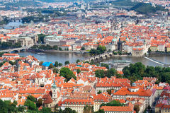 Prague from above Stock Photography
