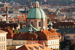 Prague Aerial Royalty Free Stock Photography