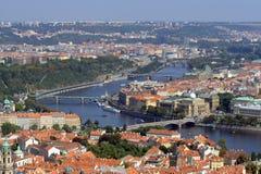Prague Aerial view Stock Photos