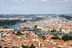 Prague Aerial view Royalty Free Stock Photo