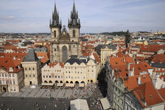 Prague,aerial view Stock Photo