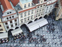 Prague aerial view. Aerial view on Prague's old town square, Czech Republic Stock Photos
