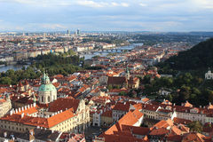 Prague Aerial View stock photos